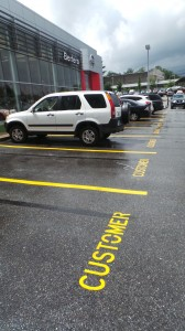 Sales Customer Parking