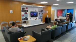 Flat Screen TV in the Waiting Area